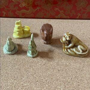 Red rose tea miniature figures lot of 5
